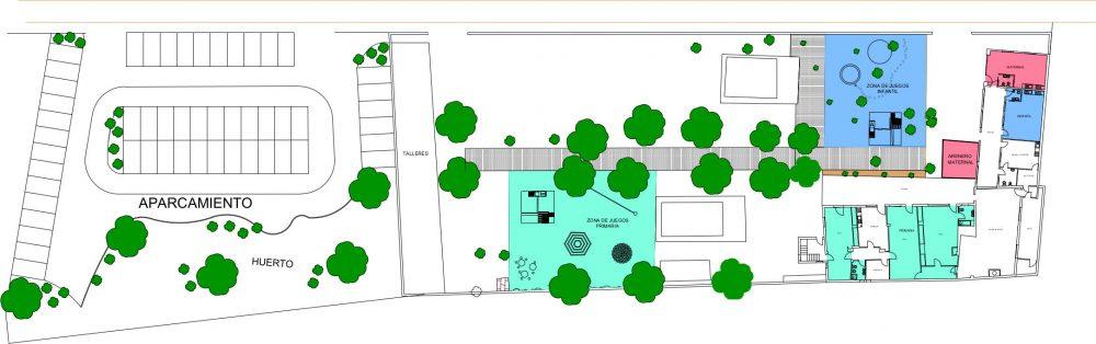 Plano Escuela Waldorf Albacete La Colmena